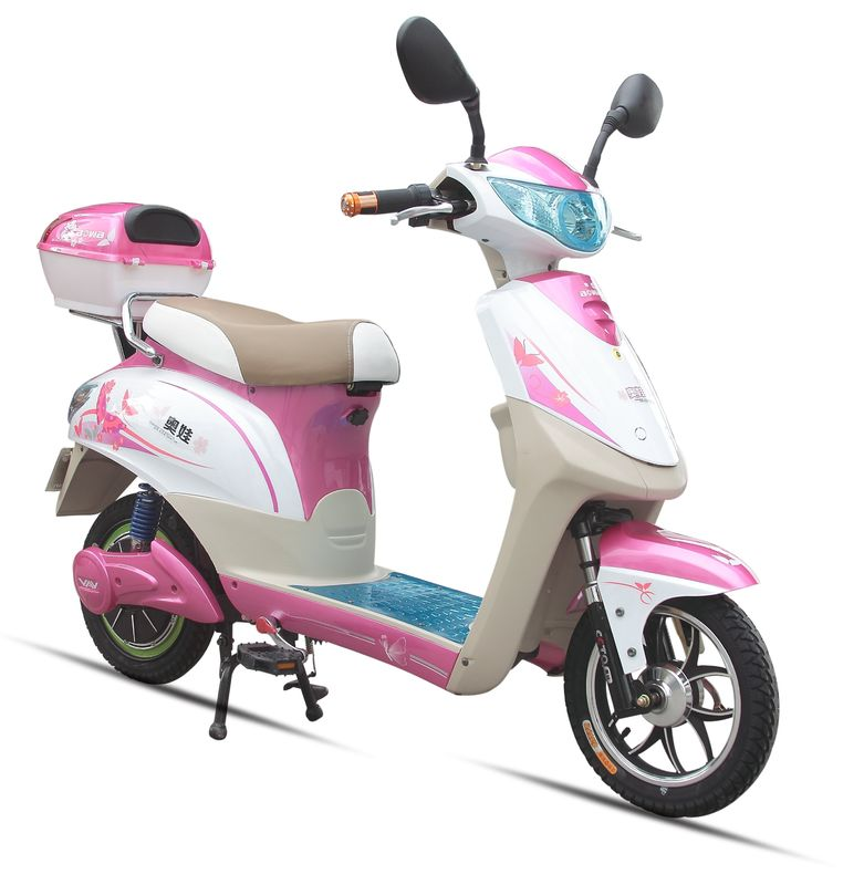 350W Pink Adult Electric Scooter , Battery Operated Scooter With 350W - 450W Motor